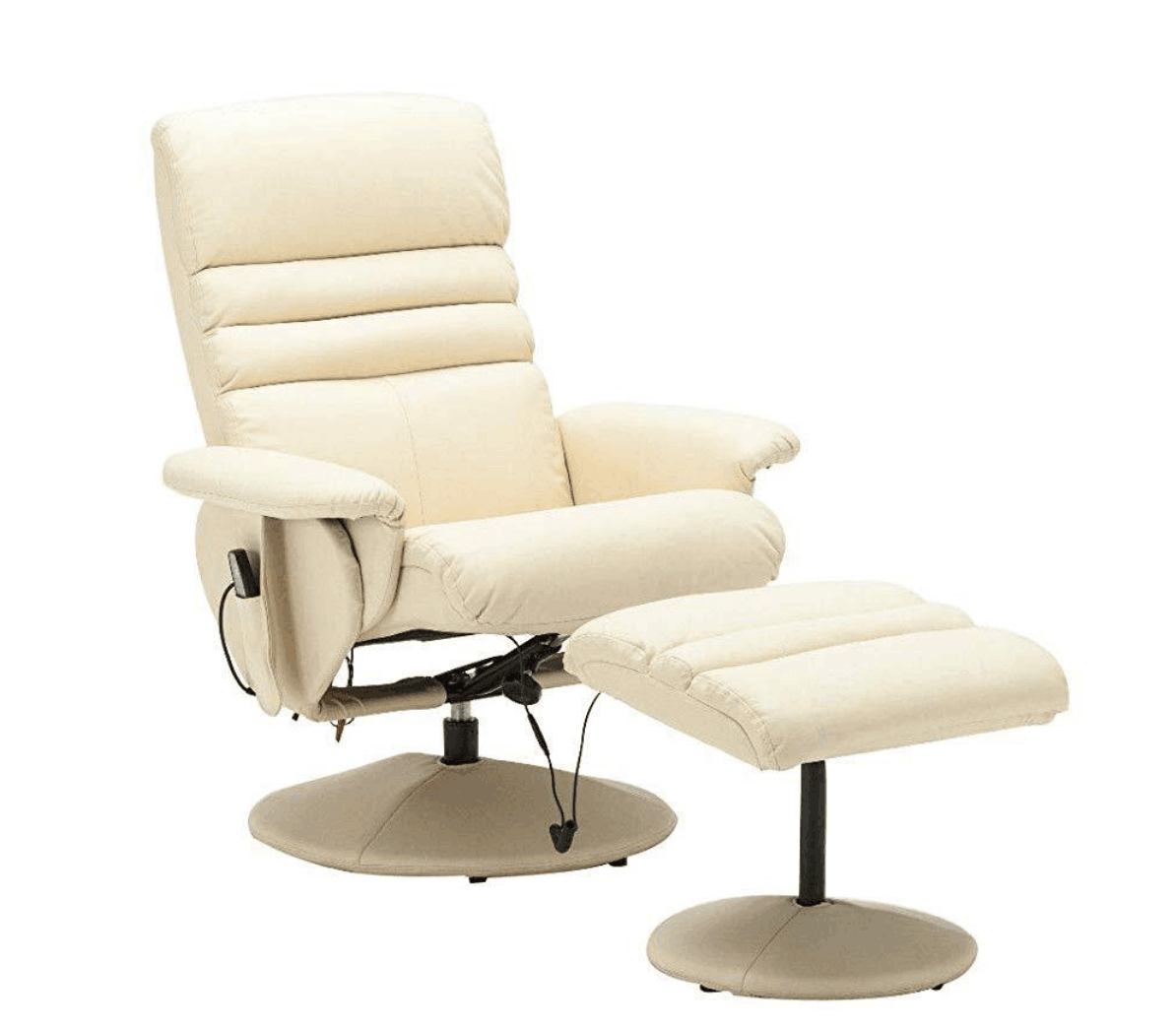 Magnificent Mcombo Electric Faux Leather Recliner Chair And Ottoman Swivel Gaming Massage Chair With Wrapped Base Remote Control For Video Game Office Home Pdpeps Interior Chair Design Pdpepsorg