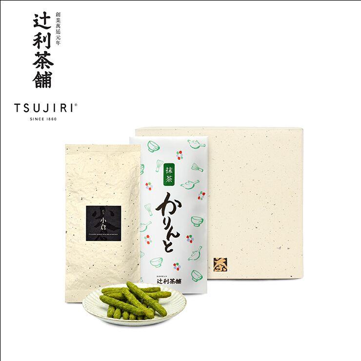 【辻利茶舗】日本茶茶點禮盒(小倉煎茶茶葉+抹茶花林糖)~八女高級綠茶搭配日本國民茶點~送禮自用兩相宜 0