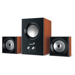 Genius SW-2.1 375 音色驚豔三件式木質音箱喇叭(原木色)