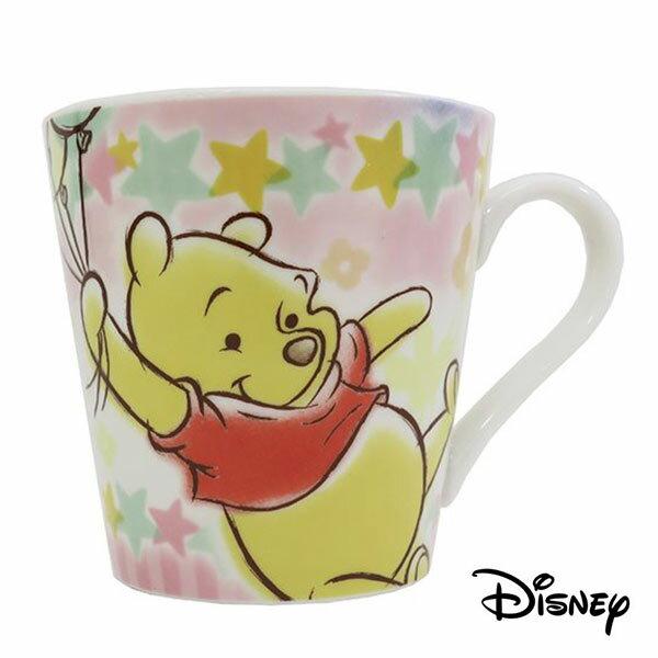 【日本進口】小熊維尼 Winnie the Pooh 陶瓷 馬克杯 300ML 咖啡杯 迪士尼 Disney - 058020