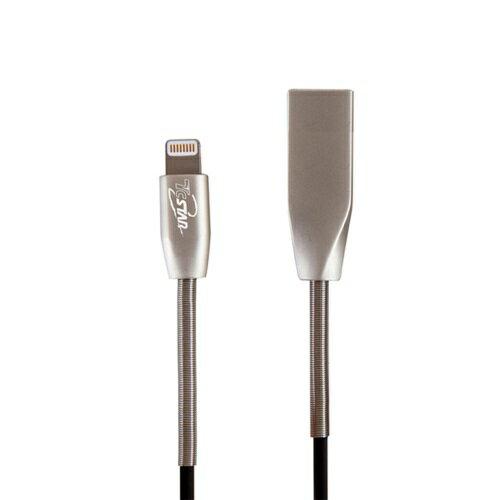 【貝殼】T.C.STARLightningMFI鋅合金彈簧充電線傳輸線Apple充電A6100-100cm