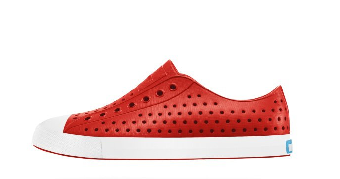 NATIVESHOES - JEFFERSON -TORCH RED/BONE WHITE(6399)
