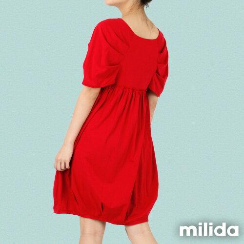 【Milida,全店七折免運】-春夏商品-甜美款-公主袖洋裝 5