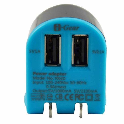<br/><br/>  [NOVA成功3C]I-Gear 艾吉爾 3100mAh 雙USB 充電器(藍/黑) - T002D-BB  喔!看呢來<br/><br/>