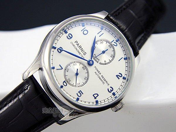 【完全計時】OUTLET手錶館│PARNIS 瑞典軍錶風 動力儲存自動機械錶 PA3026 推薦男錶 l 現貨