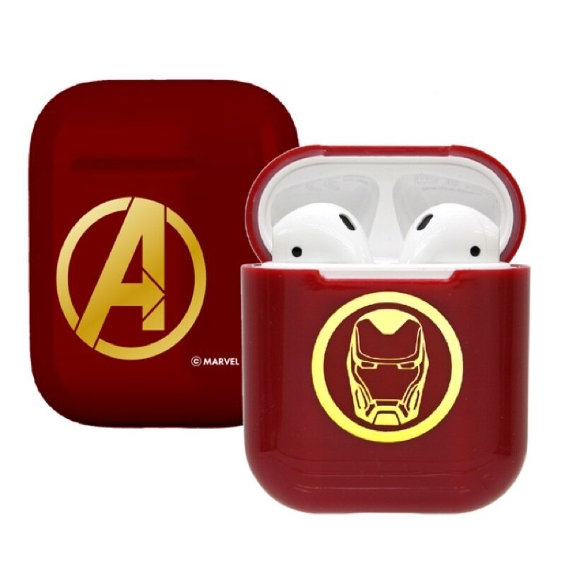 漫威MARVEL復仇者聯盟CAMINO AirPods硬式保護套 鋼鐵人Iron Man(紅) iphone耳機殼 正版3C