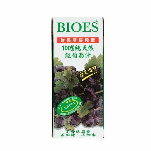 <br/><br/>  囍瑞BIOES100%純天然紅葡萄汁200ml*6入【愛買】<br/><br/>