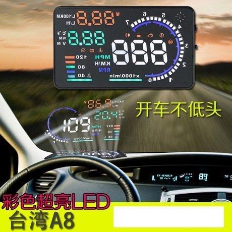 【 保固一年】 HUD 抬頭顯示儀 夜視 儀表 OBD 行車電腦 車速 轉速 警示 水溫 油秏 行車數據 感光