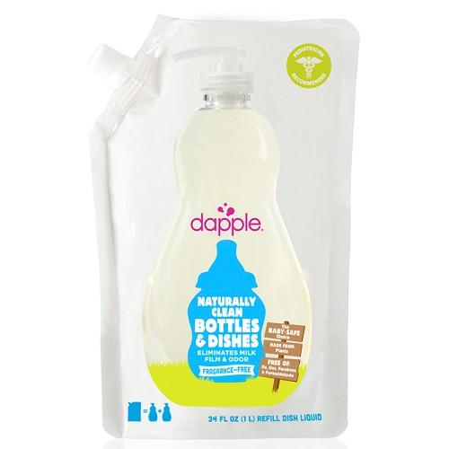 Dapple - 天然奶瓶及餐具清潔液 (無香精) 1L 補充包 0