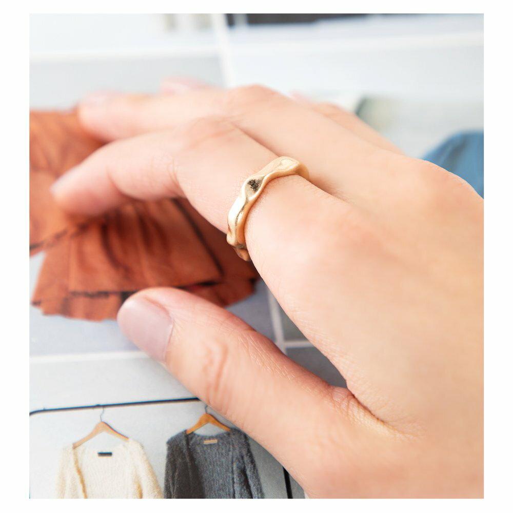 日本CREAM DOT  /  リング 指輪 金属アレルギー ニッケルフリー レディース 12号 ファッションリング クラフト調 メタル たたき加工 大人カジュアル シンプル 可愛い ゴールド シルバー  /  d00080  /  日本必買 日本樂天直送(790) 6
