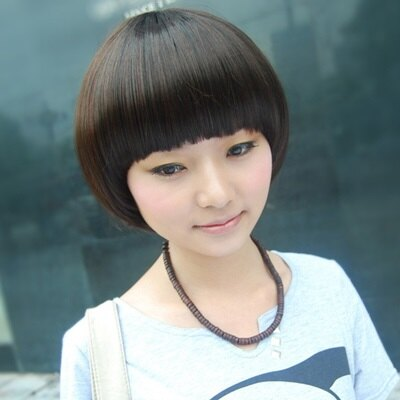 假髮整頂假髮短假髮 ~ 可愛香菇頭齊瀏海女 73em58~ ~~米蘭 ~