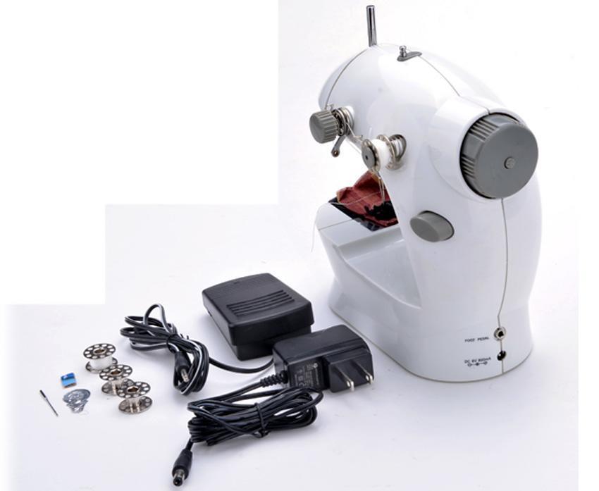 Portable Mini Handheld Electric Sew 2-Speed Sewing Machine Battery/Mains Powered  Bobbins 4