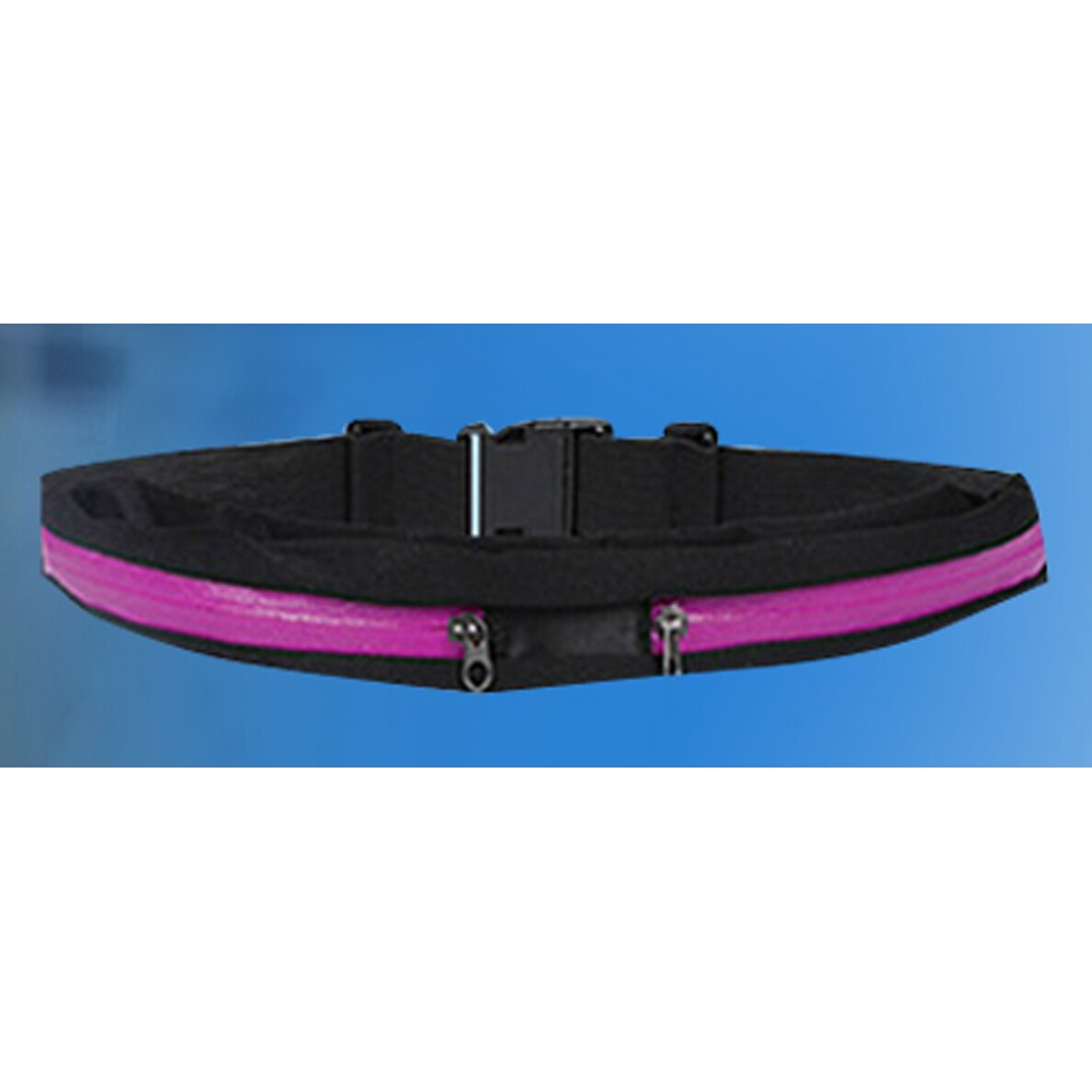 運動隱形腰袋【桃紅色】 輕巧 萊卡 防水潑布 多色【健走、跑步、外出】
