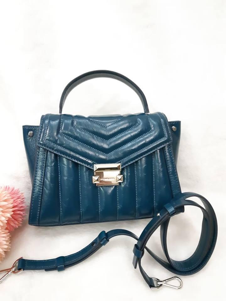 MK (專櫃款)羊皮土耳其藍蝴蝶-手提 /  肩 /  斜背包 0