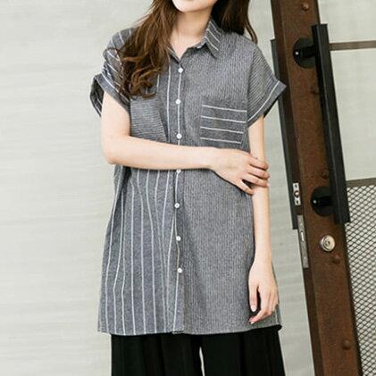 寬鬆顯瘦襯衫 ~ B16W010081_ iNio 衣著美學