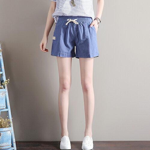 寬鬆緊腰亞麻休閒褲(7色S~3XL)【OREAD】 1