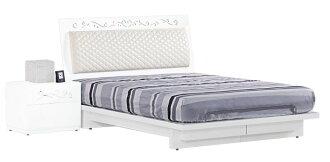 【尚品家具】JF-047-4 倫斯5尺白色雙人床架(不含床頭片)