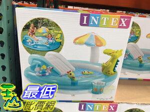 [106限時限量促銷] COSCO INTEX GATOR SPRAY POOL 鱷魚溜滑梯水池 長203X?173X高89CM C112551