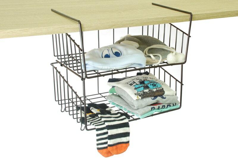 【凱樂絲】媽咪好幫手DIY櫃子鐵線收納籃(吊架式) - 中型, 垂直空間利用-組合式  廚房, 浴室, 客廳, 衣櫃, 櫥櫃適用 1