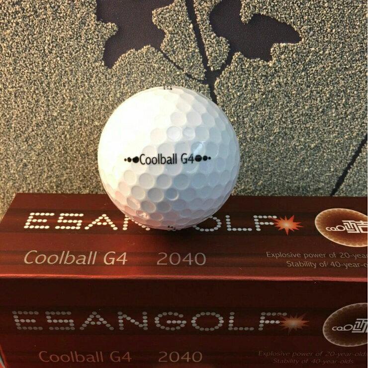 Coolball G4 2040 高爾夫球 ( 一盒裝12入 ) 白色、橘色 二層球