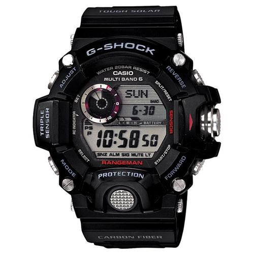 Casio GW9400-1 Men's G-Shock Rangeman Tough Solar Digital Grey Dial Black Resin Strap Dive Watch 0