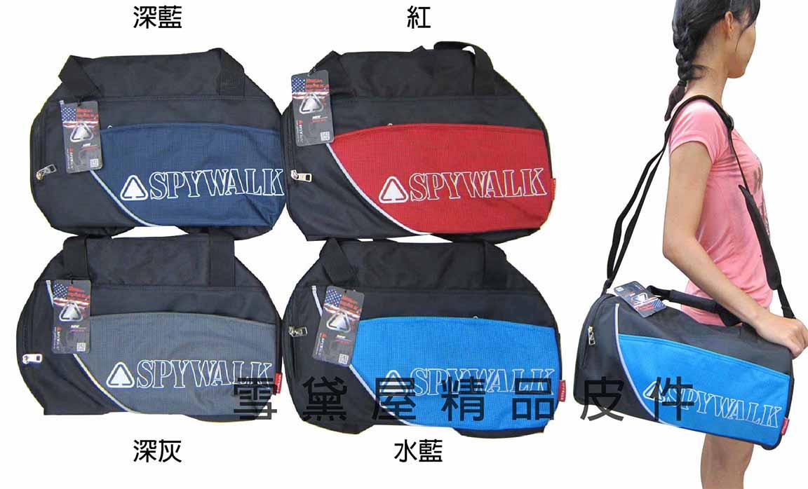 ~雪黛屋~POWERONE圓筒旅行袋大型容量可手提可肩背斜側背圓桶運動包防水尼龍布材質外出休閒運動014-6039(小)