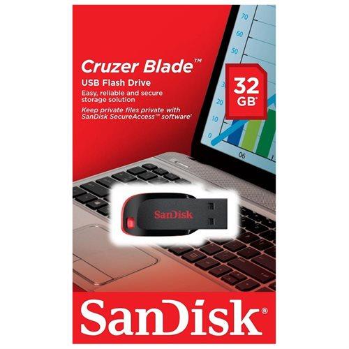 Sandisk 32GB Cruzer Blade USB 2.0 32G Flash Pen Drive SDCZ50-032G-B35 2