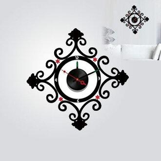【日本Wall-Deco】創意壁紙時鐘-鎖住祕密 10D022