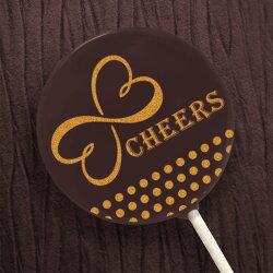 婚禮小物/進場小物-燙金婚禮巧克力棒棒糖-cheers燙金 (單品)|Kreative Chocolate創意巧克力