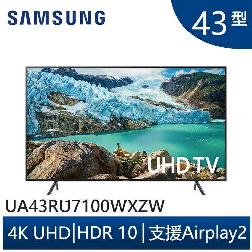 出清下殺(限量) ↘ SAMSUNG 三星 UA43RU7100WXZW 43吋 4K UHD液晶電視 公司貨 含運不安裝 樂天夏特賣TV - 限時優惠好康折扣