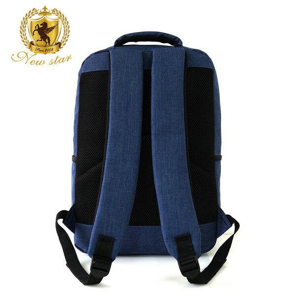 韓風簡約時尚防水雙層拉鍊多口袋後背包包 NEW STAR BK244 4