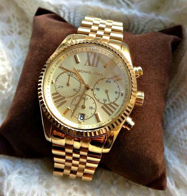 美國Outlet正品代購 MichaelKors MK  男女中性金色鋼帶錶 手錶 MK5556 5