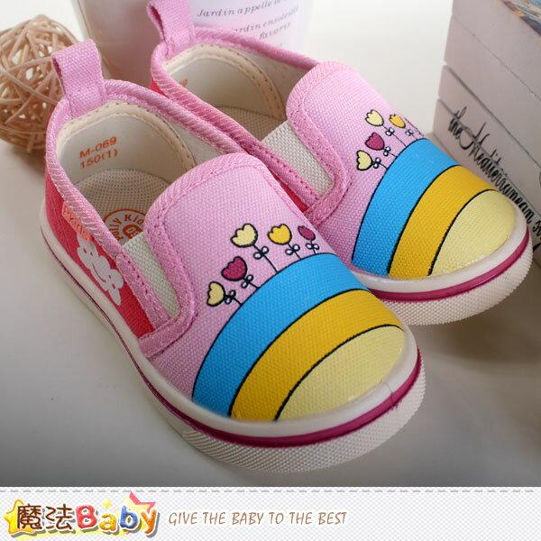 兒童帆布鞋 魔法Baby~sh7315