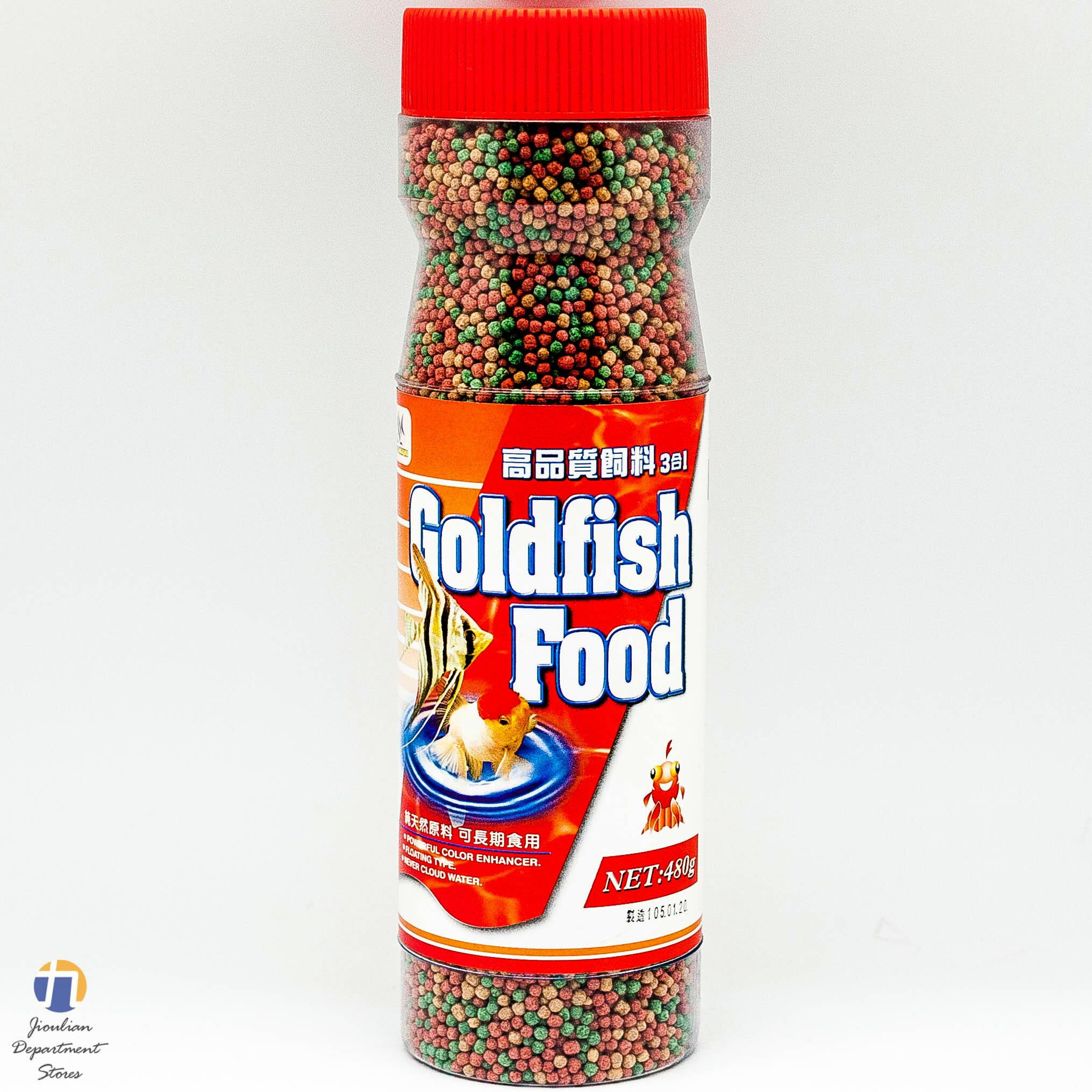 ^~九聯 ^~ 高 飼料 3合1 魚飼料 480g ^(大顆粒^) 大罐