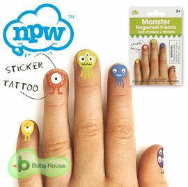 【安琪兒】英國【NPW】可愛指甲貼 - 怪物 - 限時優惠好康折扣
