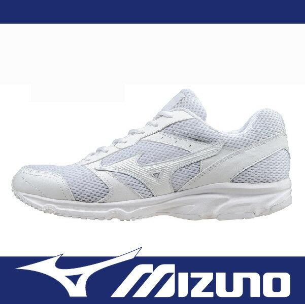 【路跑季7折】萬特戶外運動 MIZUNO K1GA161401 男女慢跑鞋 MAXIMIZER 18 寬楦 基本款 學生鞋 便宜 全白色