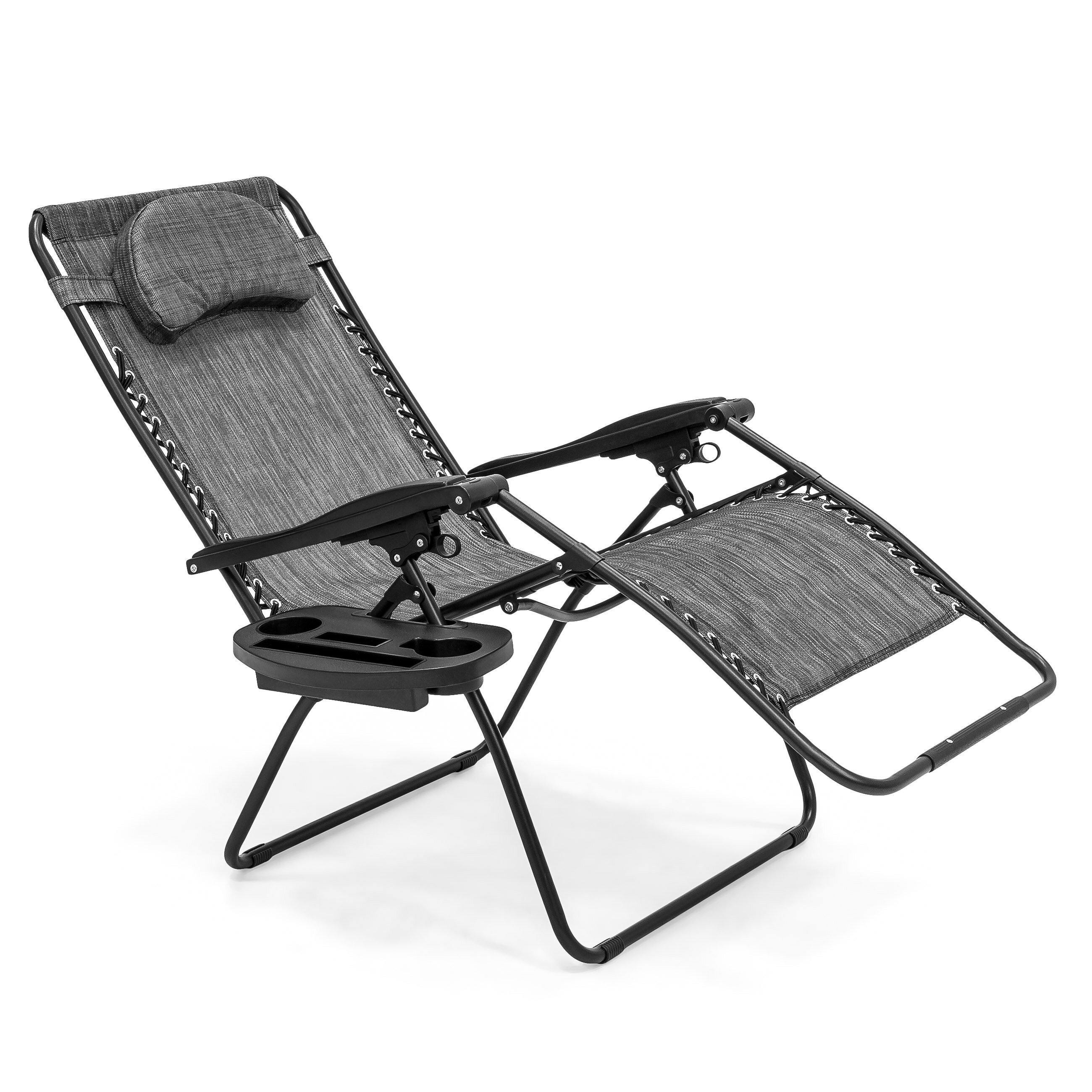 Best Choice Products Oversized Zero Gravity Outdoor Reclining Lounge Patio  Chair W/ Cup Holder