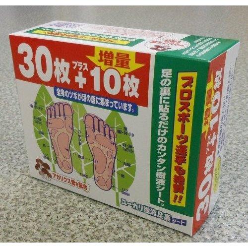 日本製 東方醫學 桉樹樹液 姬松茸 足貼 身體貼布 30+10張入【JE精品美妝】