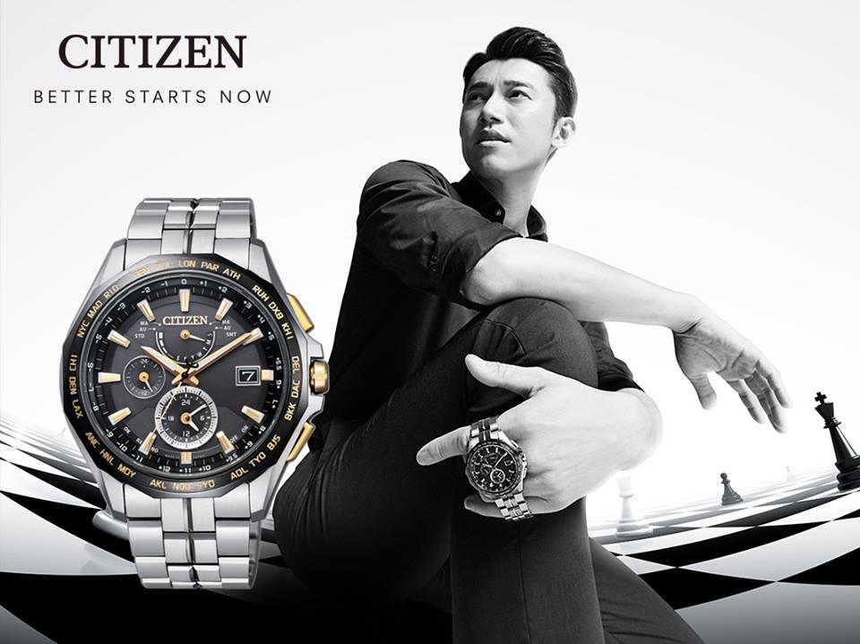 清水鐘錶 Citizen 星辰 AT9095-50E Eco-Drive 光動能 勁量流線限量錶鈦金屬全球電波腕錶 44mm