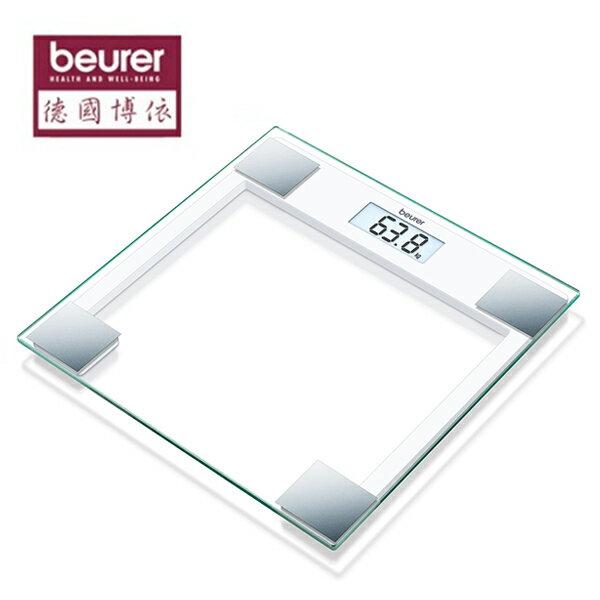 德國博依 beurer 典雅方形玻璃體重計 GS 14