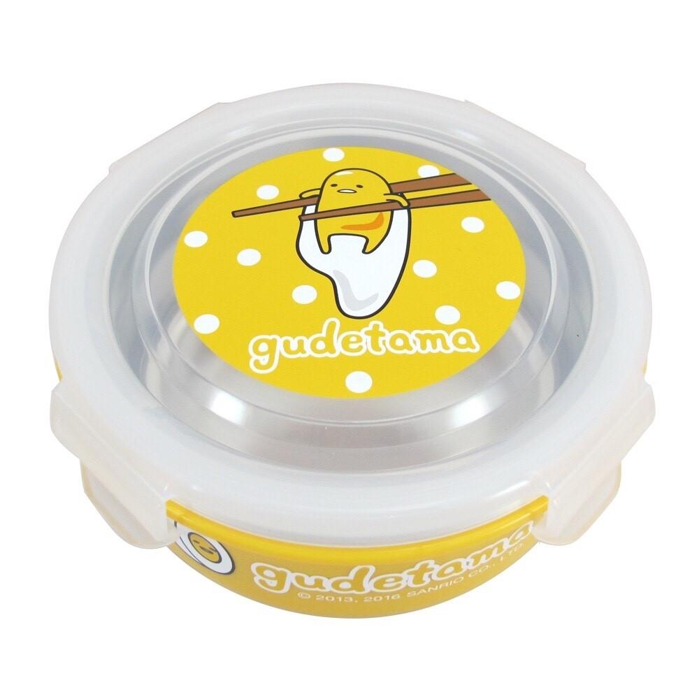 X射線【C164519】蛋黃哥樂扣環保碗,環保/餐盤/便當盒/不銹鋼/不鏽鋼/開學/卡通