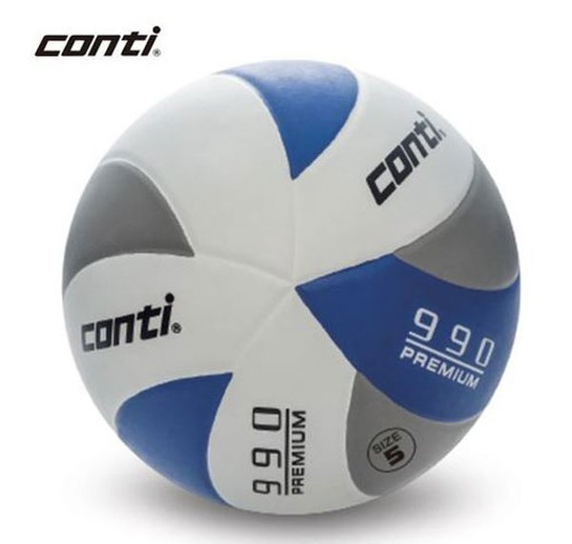 陽光運動館:[陽光樂活=]CONTI頂級超世代橡膠排球(5號球)V990-5-WGRB灰藍白新品八五折
