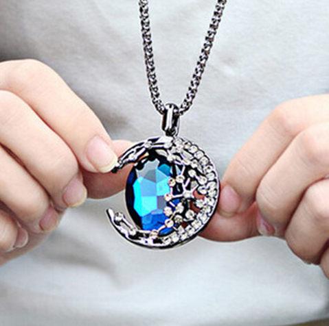 ✻蔻拉時尚✻ [E03] 高端水晶項鏈___眾星拱月華麗水晶長款項鏈