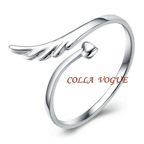 ?蔻拉時尚? [JZ903] 925銀飾 時尚開口戒 天使之翼款 晶亮上市