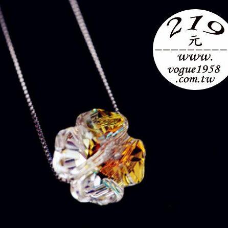 ✻蔻拉 ✻^~KN003^~ 純銀水晶項鏈__極光四葉草 925純銀項鏈 219^!