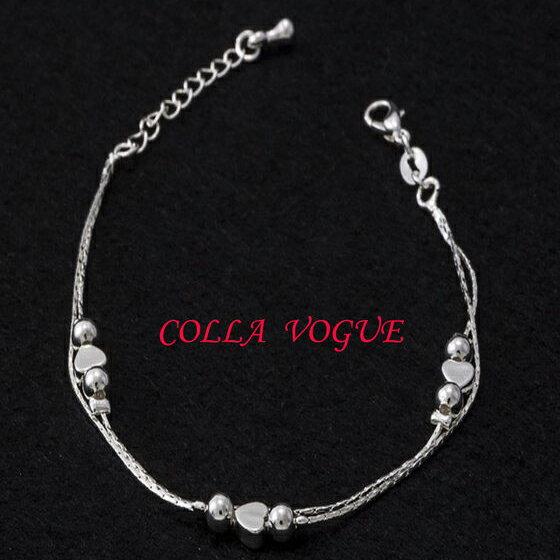 ✻蔻拉時尚✻ [N001-6] 925銀飾 雙層復古小愛心 純銀腳鍊 新品登場