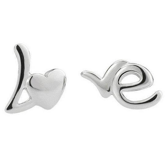 ✻蔻拉 ✻  Q08  925純銀  love英文字母元素耳釘 抗過敏