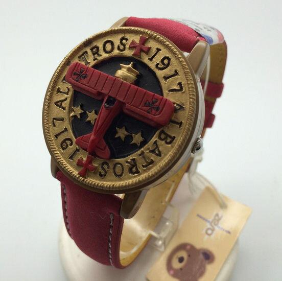 ✻蔻拉 ✻ ^~W0005^~ 復古翻蓋石英錶 ___ 立體飛機款男女手腕錶