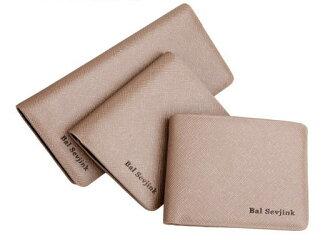✻蔻拉時尚✻ [Y680-1] 個性組合中長款皮夾 時尚男士創意中長款皮夾/一套三件/卡其色