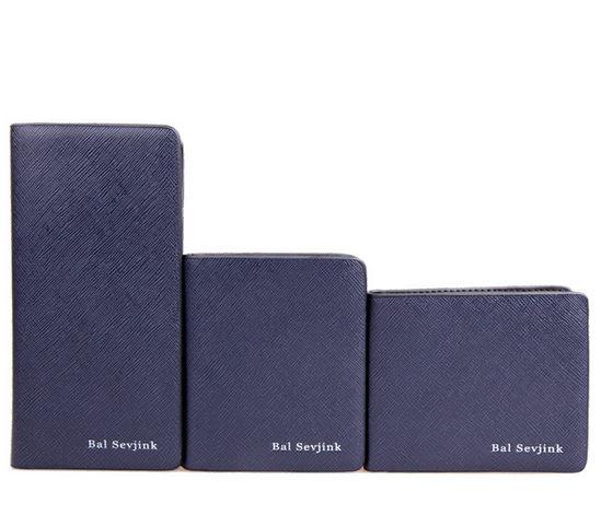 ✻蔻拉時尚✻ [Y680] 個性組合中長款皮夾 時尚男士創意中長款皮夾/一套三件/藍色